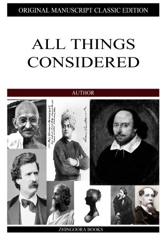 Read Online All Things Considered pdf