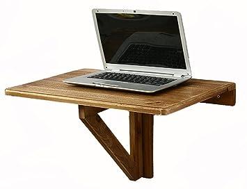 Table murale en bois massif table pliante contre le mur ordinateur