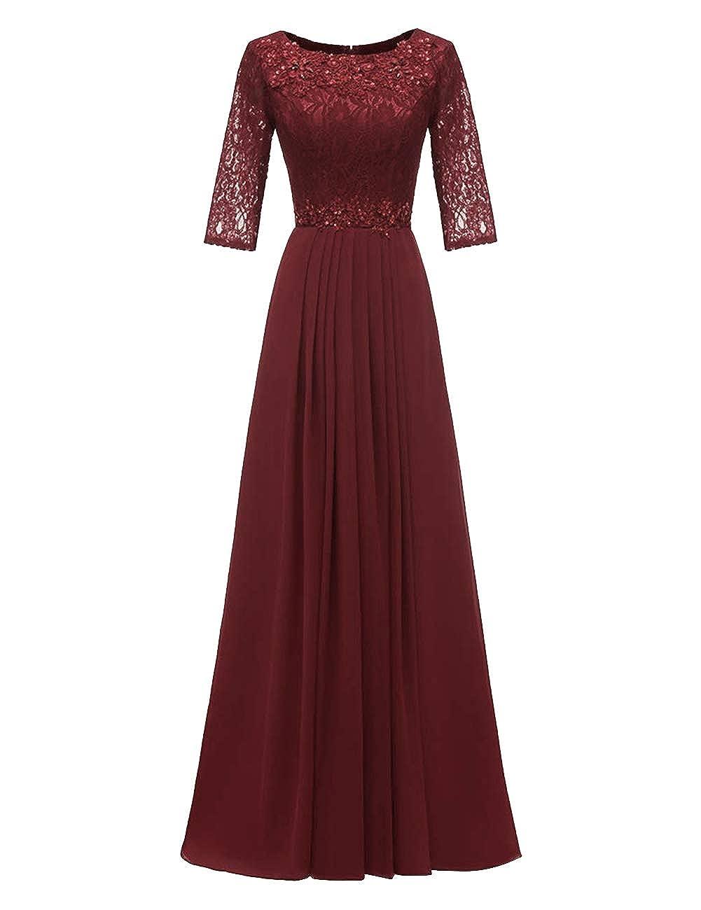 Dark Burgundy H.S.D Evening Dresses Long Prom Dresses Lace Bridesmaid Dresses Evening Formal Gowns