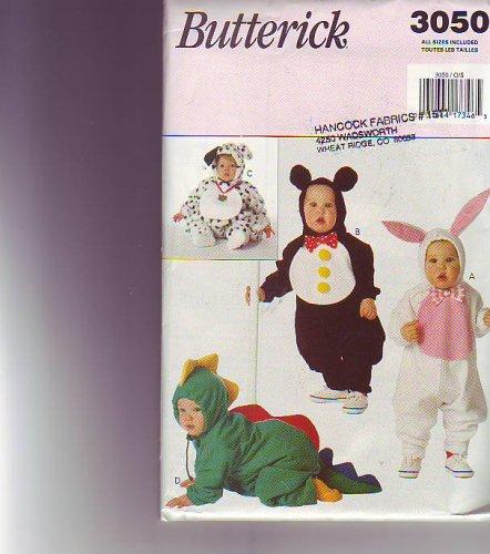 Butterick 3050 Sewing Pattern Infants Costumes Dragon Dalmation Bunny (Dog Dragon Costume Pattern)