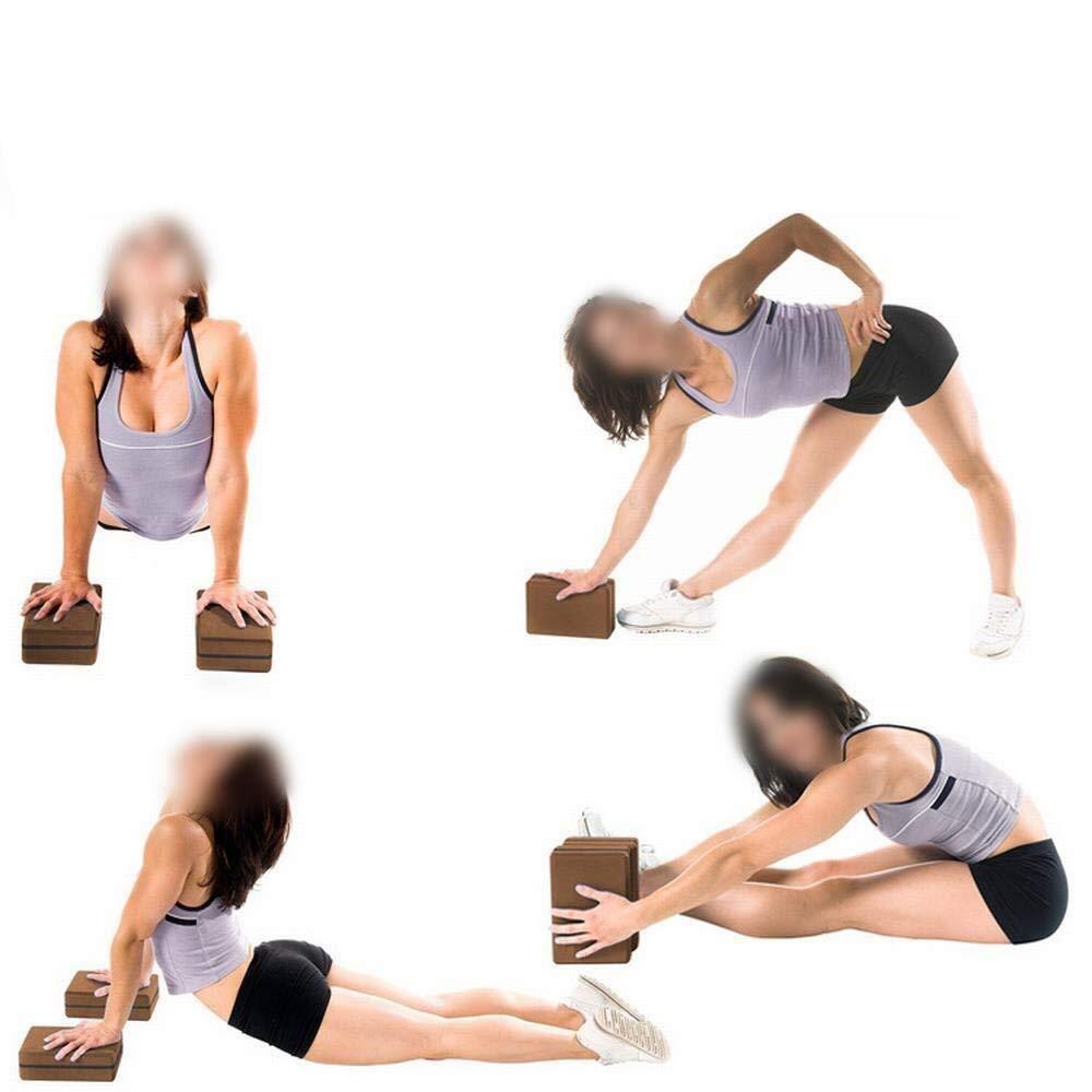ZALIANG Yoga Block Yoga Brick Aids, One Cargado Yoga de Alta ...
