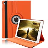 iPad Pro 10.5 Smart Case, iPad Pro 10.5 Cover, YiMiky PU Leather Slim Lightweight 360 Degrees Rotating Folio Stand Smart Protective Case for 10.5' iPad Pro 10.5(Orange)