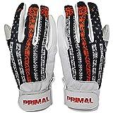 PrimalBaseball USA Firefighter Baseball Batting Gloves for Sports Players - Large