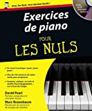 Exercices de piano pour les nuls (+ 1 CD)
