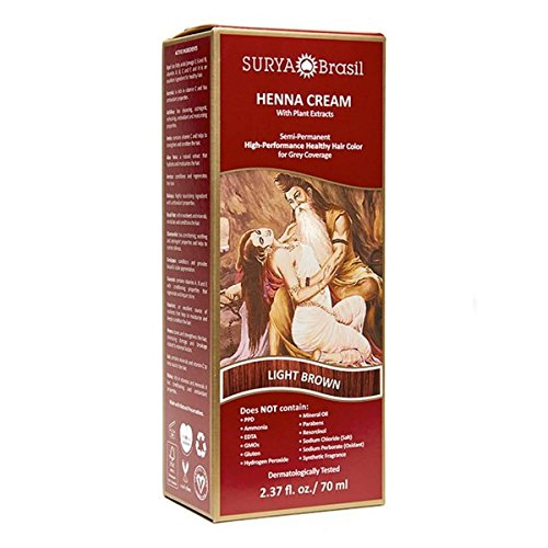 Henna Light Brown Cream Surya Nature, Inc 2.31 oz Cream by Surya Brasil