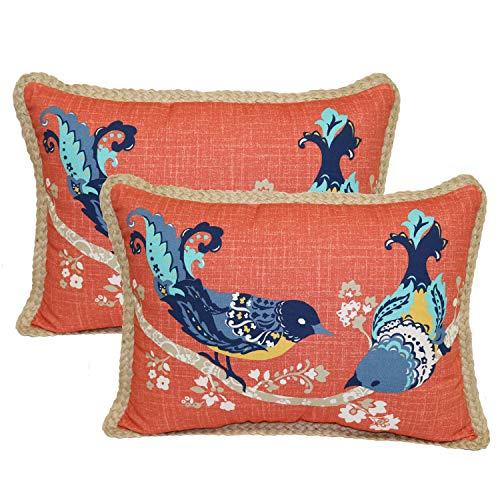 better homes and gardens paisley bird toss