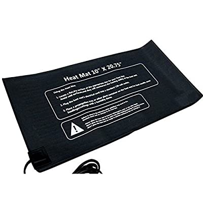 "HiHydro Indoor Plants or Seeds Grow Heat Mat for Hydroponics Seedling Heat Mats Heating Pad 10"" x 20.75"""