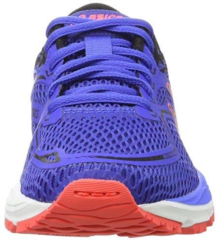 Asics Unisex-Kinder Gel-Cumulus 19 Gs Laufschuhe Violett (Blue Purple / Black / Flash Coral)