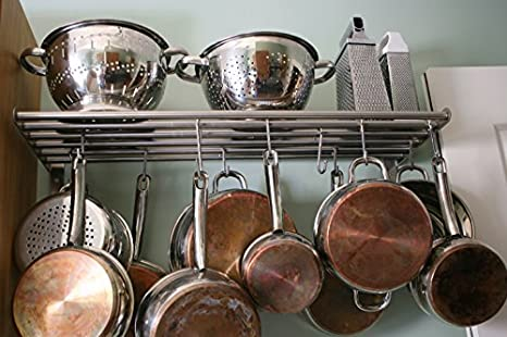 Ndier en Forma de S para Colgar Ganchos para ollas, sartenes, cucharas de Acero ixidable Ropa £ š 10pc £ © Hogar y Cocina: Amazon.es: Hogar