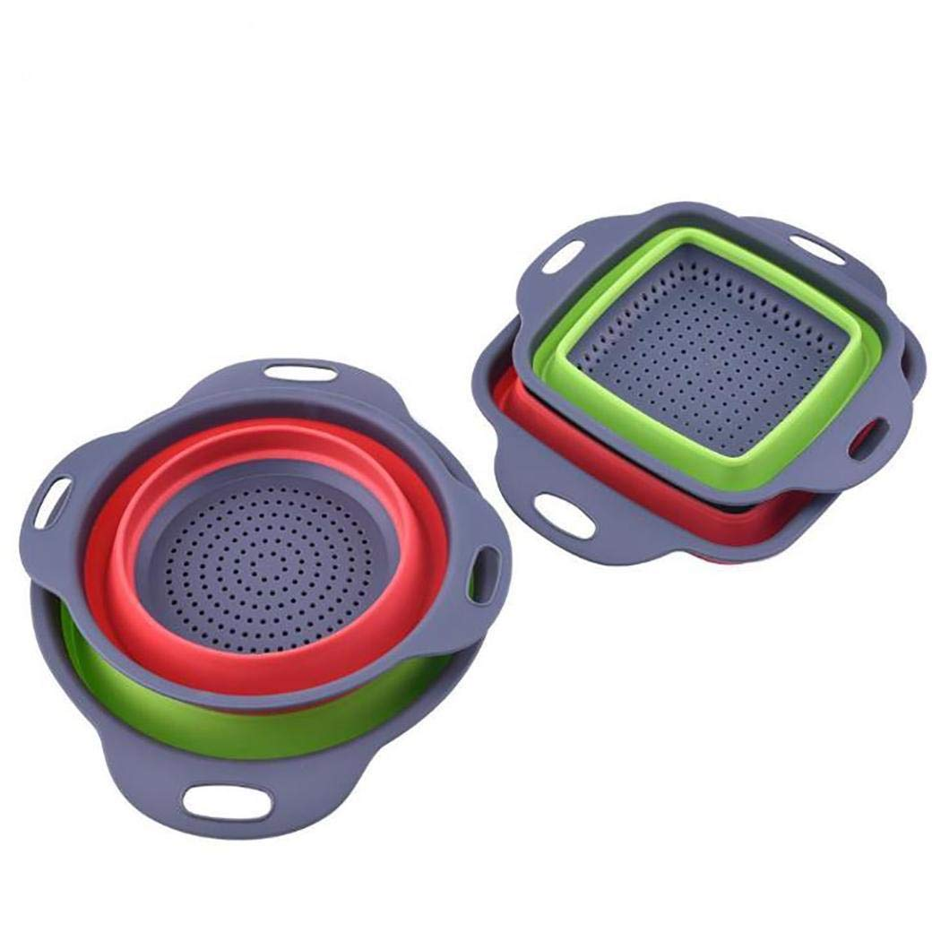 Dieron Retractable Foldable Fruit Vegetables Washing Basket Silicone Storage Basket Storage Lockers