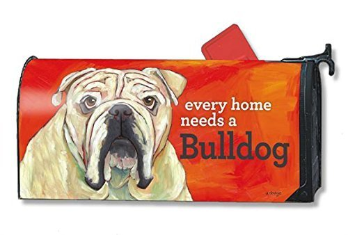 mailwraps bulldog dog magnetic mailbox