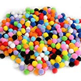 BronaGrand 1000 Pieces Pompoms for Craft Making and Hobby Supplies 0.4 Inch, Assorted Colors