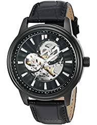Invicta Mens Vintage Automatic Stainless Steel Casual Watch, Color:Black (Model: 22580)