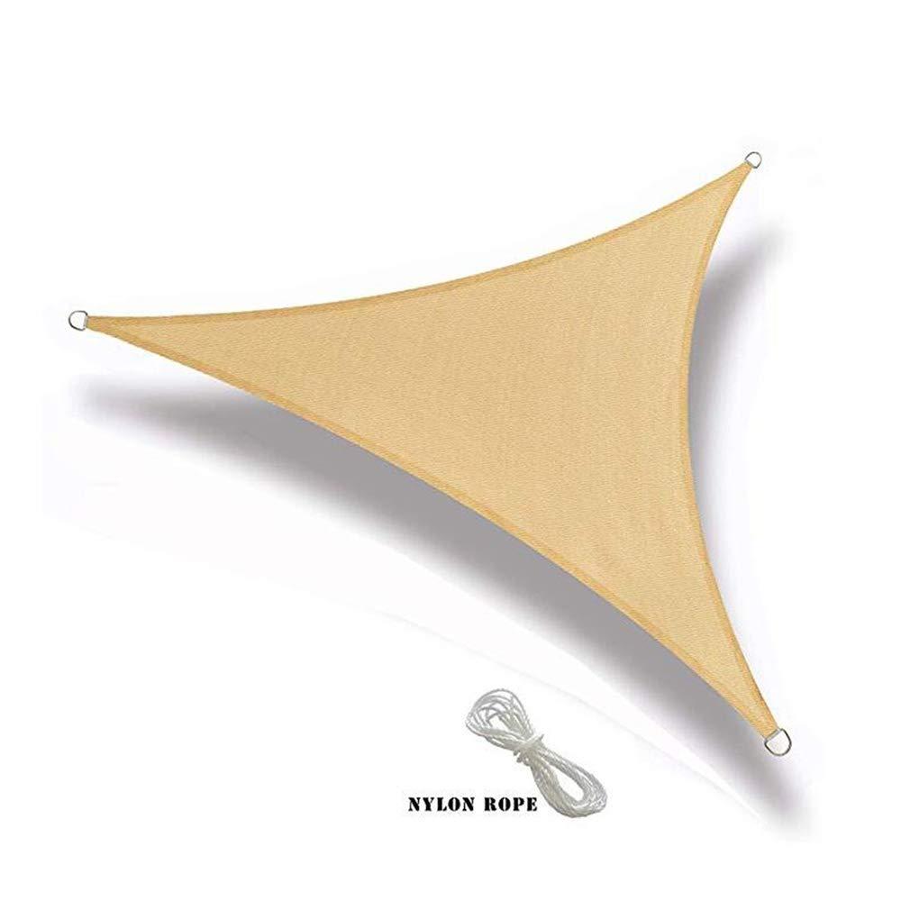 XIAOLIN 窓ガラスの日よけの帆パティオのための三角形の紫外線ブロックの生地のおおい庭のパティオ利用できるカスタマイズされたサイズ (サイズ さいず : 5X5X5m) 5X5X5m  B07PLCGZWY