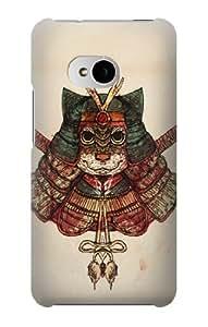 S1485 Cat Samurai Case Cover For HTC ONE M7 hjbrhga1544