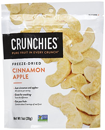 Crunchies Freeze-Dried Grab-n-Go Cinnamon Apple, 1.0 Ounce (Pack of 6)