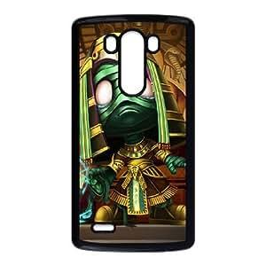 LG G3 Cell Phone Case Black League of Legends Pharaoh Amumu Jwrgc