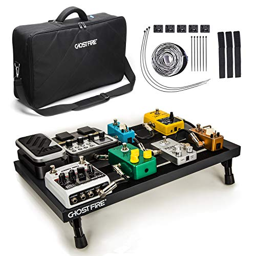 Guitar Pedal Board, Effects Pedal Board Aluminum with UPGRADED Bag, Lightweight Pedalboard for Electric Guitar, 19.8 x 11.5, 3 lb (Effect Pedal Board)