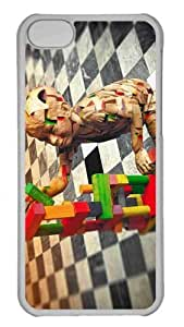 Customized iphone 5C PC Transparent Case - Wooden Sculpture Of Science Genetics Vintage Personalized Cover