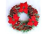 Yunqir Safflower Christmas Garland Door Hanging Ornaments Room Christmas Tree Pendants for Decoration(Red)