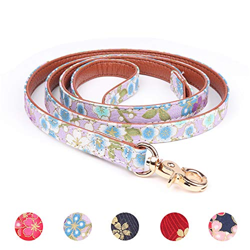 Leepets Leather Stylish Floral Pattern