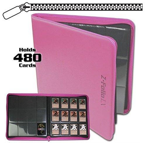 BCW Z-Folio LX Zipper Portfolio Pink 12 Pocket Playset Album