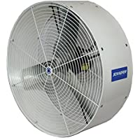 SCHAEFER VK36-3 VersaKool Circulation Fan, Yoke Mount, Blade Material: Galvanized Steel, 1/2 hp, 3 Phase, 36