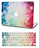 KECC Laptop Case for MacBook Pro 15' (2019/2018/2017/2016) w/Keyboard Cover Plastic Hard Shell A1990/A1707 Touch Bar 2 in 1 Bundle (Fantasy)