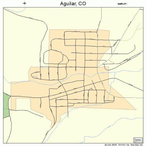 Aguilar Colorado Map.Amazon Com Large Street Road Map Of Aguilar Colorado Co