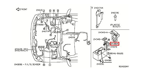Amazon Infiniti Genuine Wiring Fusible Link Holder 2438079915