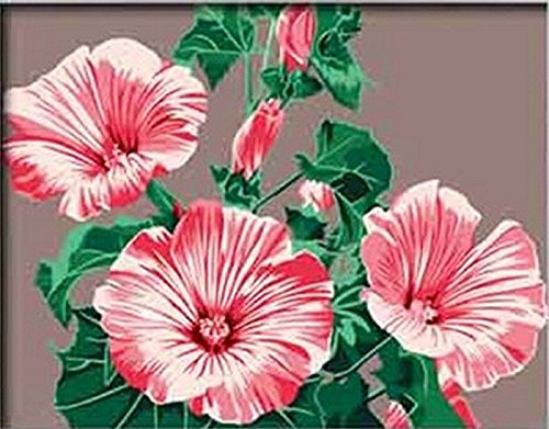 DIY Paint By Number Kits pink Lily flowers 16x20 inch Frameless