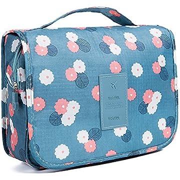 cf9bcb916fb1 HaloVa Toiletry Bag Multifunction Cosmetic Bag Portable Makeup Pouch  Waterproof Travel Hanging Organizer Bag for Women