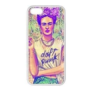 DIY Frida Kahlo Custom Case Shell Cover for iPhone 5 5S TPU (Laser Technology)