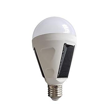 HUANGLP Bombilla LED E27,Bombillas Solares Lámparas De Ahorro De Energía Mercado Nocturno Camping Al Aire Libre Bombillas De Emergencia Solar,12W: ...