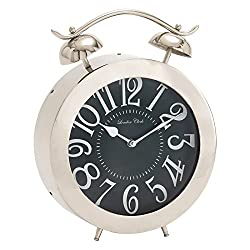 Bold And Bubbly Stainless Steel Table Clock