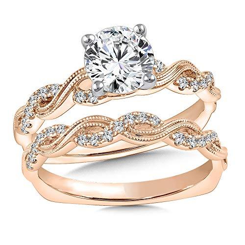 Forever Diamond 14K Solid Rose Gold Hallmarked 2.48Ct Round Cut Moissanite...