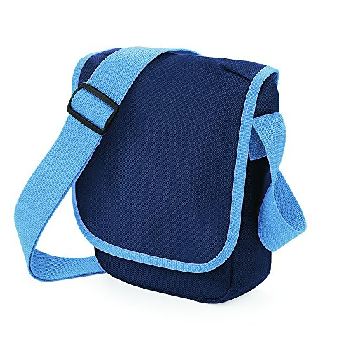 BagBase Mini Reporter Azul - French Navy/ Sky Blue