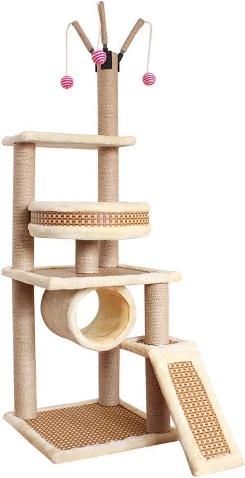 Árbol para Gatos Rascador con nidos, Torre de Gato Estable ...