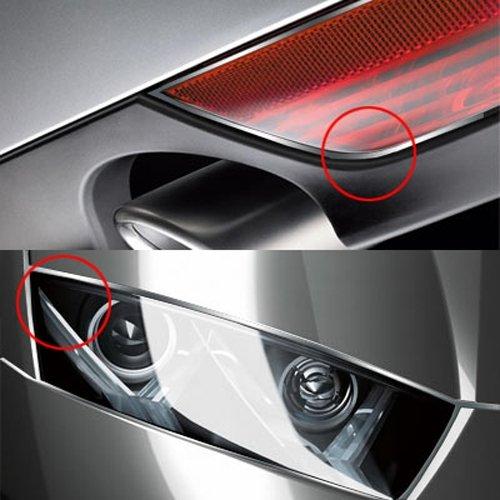 Bande Baguette Chromee 6mm de Large 3 M/ètres en Forme U pour Auto Argent*