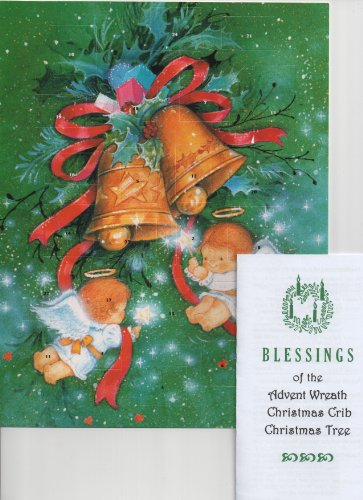 Little Angels with Bells Folk Art with Christmas Prayer Holy Pamphlet and Cross Bookmark (Bell Folk Art)
