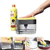 JJSFJH Dishwash Dispenser/Soap Dispenser/Sponge Box Holder/Kitchen Tools/Soap Pump Liquid/Sponge Holder/Soap Caddy…