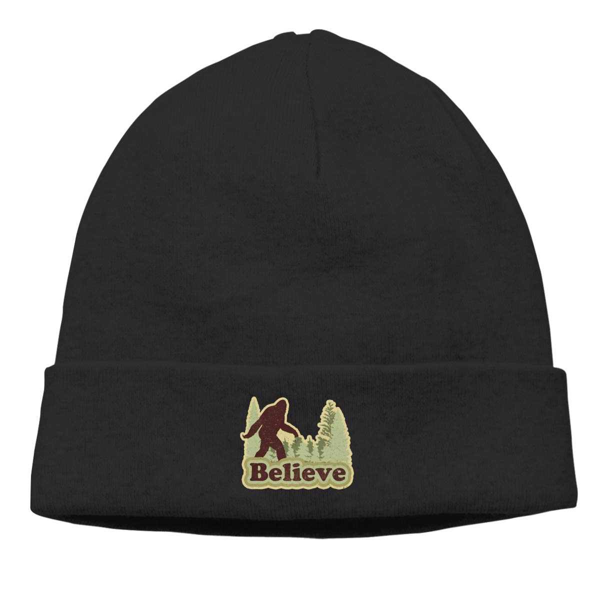 Nskngr Believe Bigfoot Cap Men Winter Summer Deliciously Soft Daily Beanie Hats Slouchy Beanie Hat