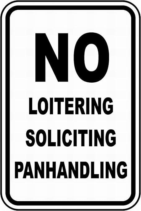 Shunry No Loitering Placa Cartel Vintage Estaño Signo Metal ...