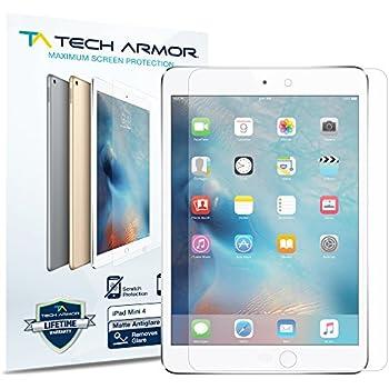 iPad Mini 4 Screen Protector, Tech Armor Anti-Glare/Anti-Fingerprint Apple iPad Mini 4 Film Screen Protector [3-Pack]