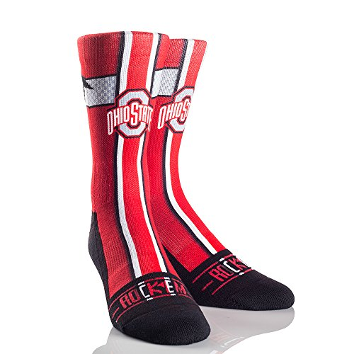 NCAA Ohio State Buckeyes Jersey Series University Custom Athletic Crew Socks, Small/Medium, Scarlet