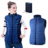 Fovolat - Women's Battery Heated Vest - USB Charging - Electric Thermal Vest - Insulated Jacket - for Snowmobile, Motorcycle, Camping, Hiking, Ski, Fishing - 1pcs
