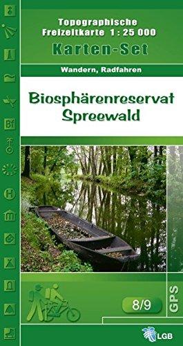Set Biosphärenreservat Spreewald: Topographische Freizeitkarte 1:25000 (Topographische Freizeitkarte 1:25000, Land Brandenburg / Für Wanderungen, Rad- und Bootsfahrten)