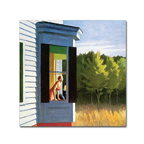Trademark Fine Art Cape Cod Morning by Edward Hopper, 24x24-Inch Canvas Wall Art (Edward Hopper Cape)