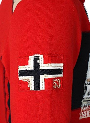 Delgado con Fit Rojo Geographical Chaqueta Hombres capucha Norway xq8FXO7