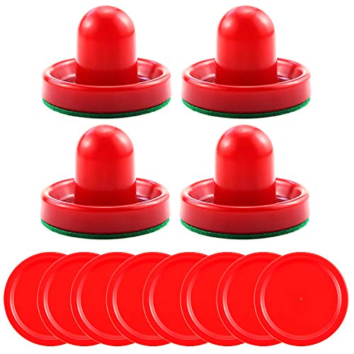 Bignc Light Weight Air Hockey Red Replacement Pucks (4 Striker, 8 Puck Pack) ()